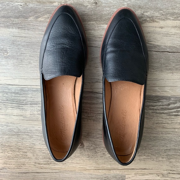 529183d45bc Madewell Shoes - Madewell The Frances Loafer Black Leather Size 6.5